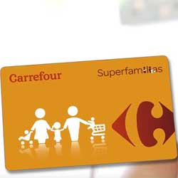 Tarjeta SuperFamilias de Carrefour